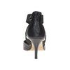 Escarpin en cuir noir avec lanières sur l'empeigne bata, Noir, 724-6369 - 17