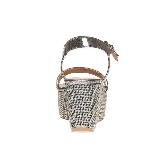 Sandale métallisée à plateforme bata, Blanc, 761-1530 - 17