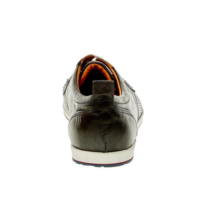 Chaussure lacée décontractée en cuir bata, Noir, 824-9124 - 17