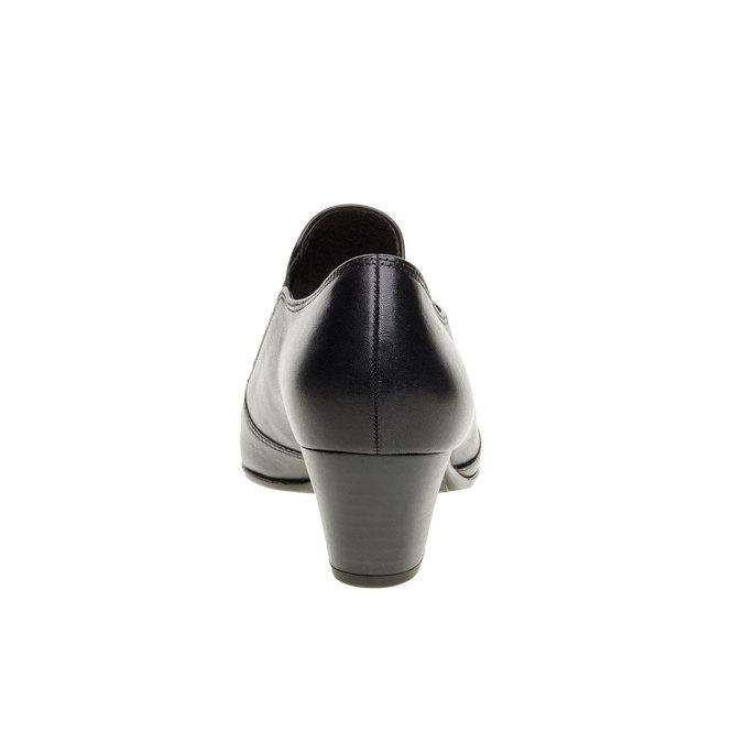Chaussure basse en cuir pour femme à talon gabor, Noir, 614-6004 - 17