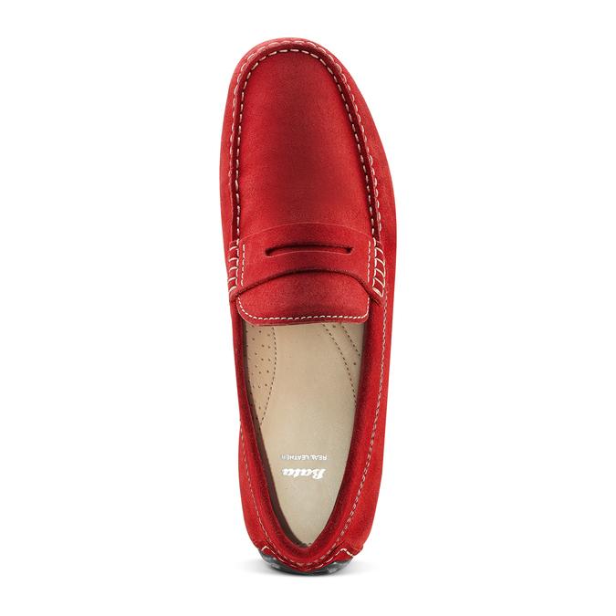 Mocassin en cuir bata, Rouge, 853-5180 - 17