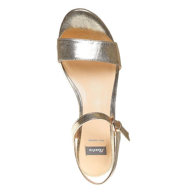 Sandale dorée à plateforme bata, Jaune, 761-8530 - 19