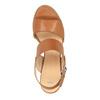 Sandale en cuir à talon large bata, Brun, 664-3205 - 19