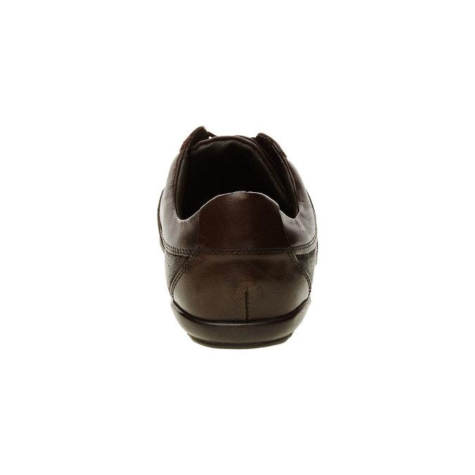 Basket décontractée en cuir levis, Brun, 844-4544 - 17