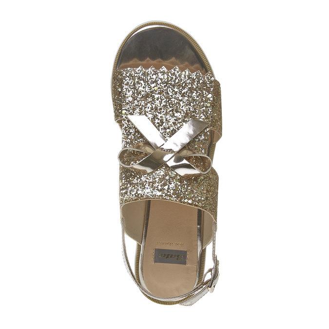 Sandale à paillettes et semelle épaisse bata, Jaune, 569-8390 - 19