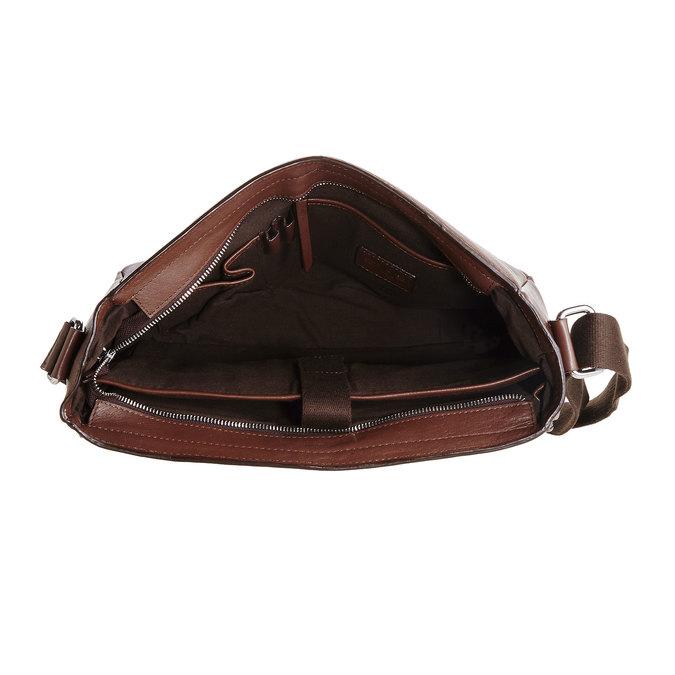 Cartable en cuir pour homme bata, Brun, 964-4182 - 15