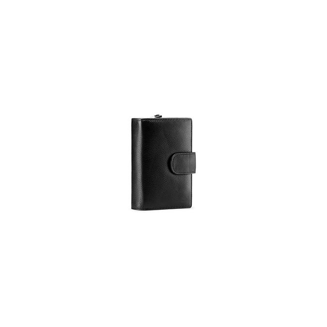 Porte-monnaie en cuir bata, Noir, 944-6117 - 13