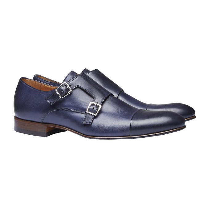 Monk Shoes en cuir pour homme shoemaker, Violet, 814-9144 - 26