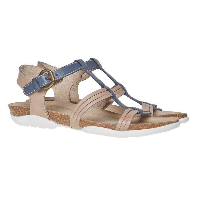 Sandale en cuir femme weinbrenner, Violet, 564-9315 - 26