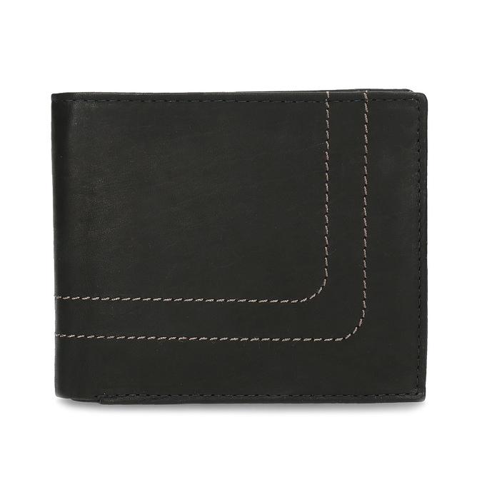 Porte-monnaie en cuir pour homme bata, Noir, 944-6147 - 26
