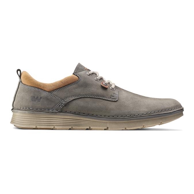 Chaussure légère en cuir weinbrenner, Gris, 846-2436 - 26