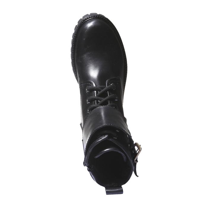 Bottes en cuir avec semelle de sentier bata, Noir, 594-6500 - 19
