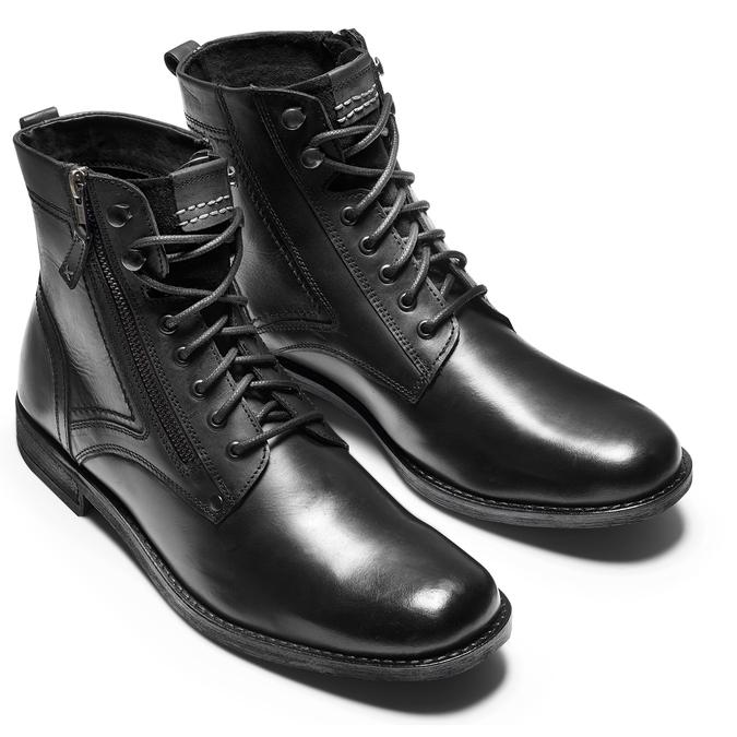 Bottine en cuir bata, Noir, 894-6449 - 17