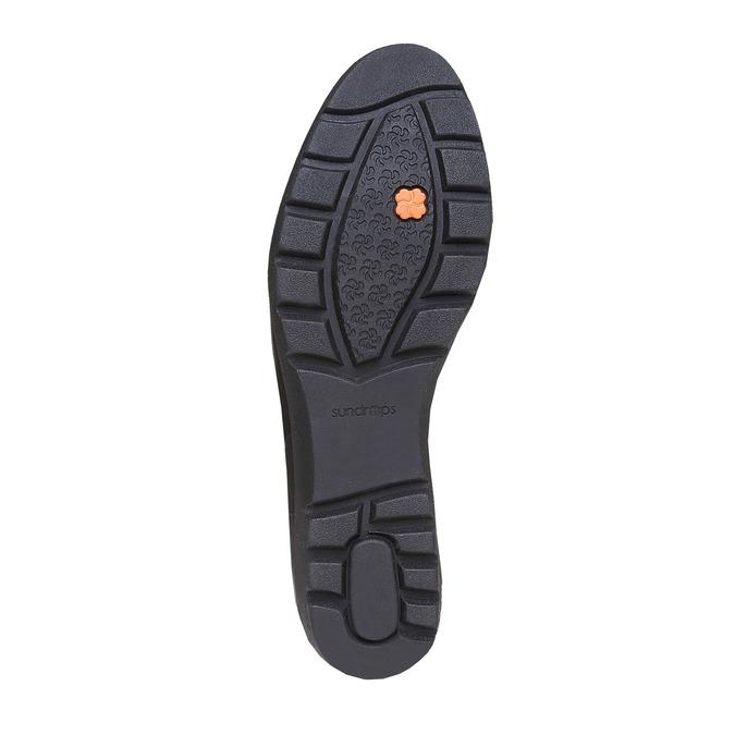 Chaussure femme en cuir avec boucles sundrops, Noir, 524-6357 - 26