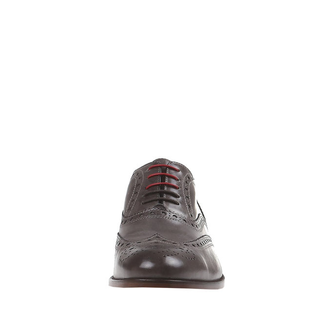 Oxford en cuir shoemaker, Gris, 824-2594 - 16
