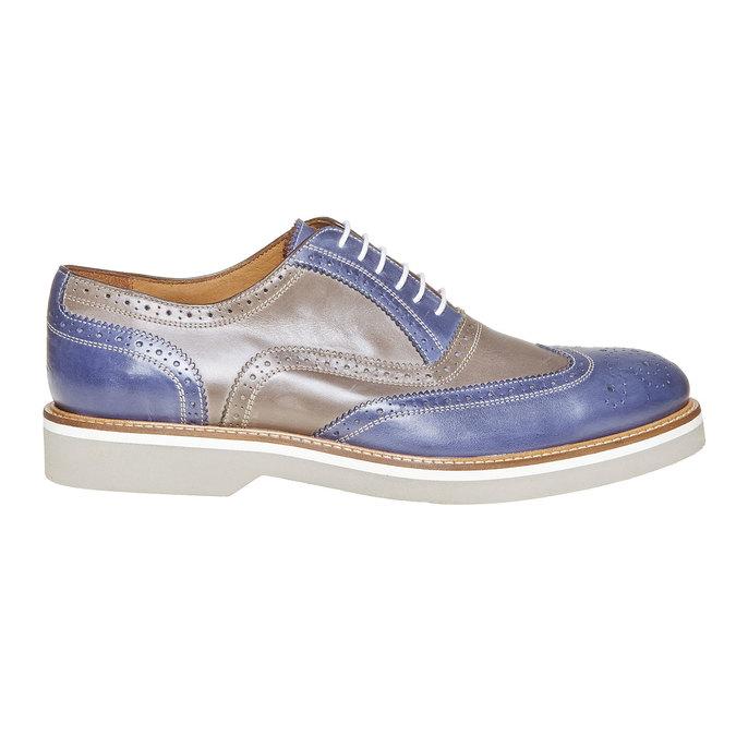Chaussure lacée en cuir à semelle épaisse shoemaker, Violet, 824-9776 - 15