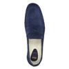 Mocassin en cuir homme flexible, Bleu, 853-9186 - 19