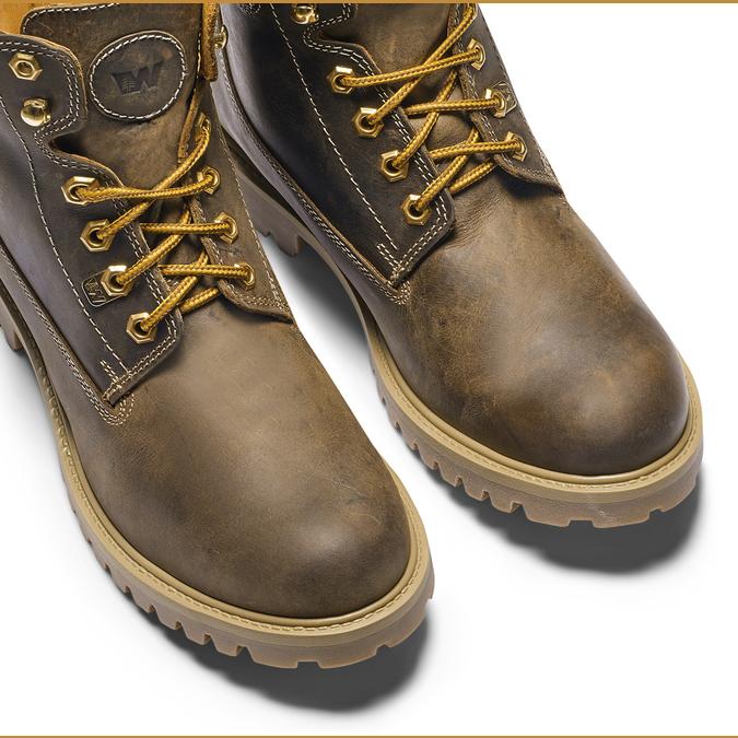 Chaussures en cuir à semelle tracteur weinbrenner, Brun, 894-4820 - 15