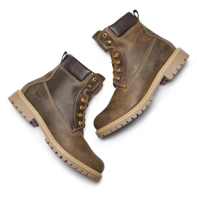 Chaussures en cuir à semelle tracteur weinbrenner, Brun, 894-4820 - 19