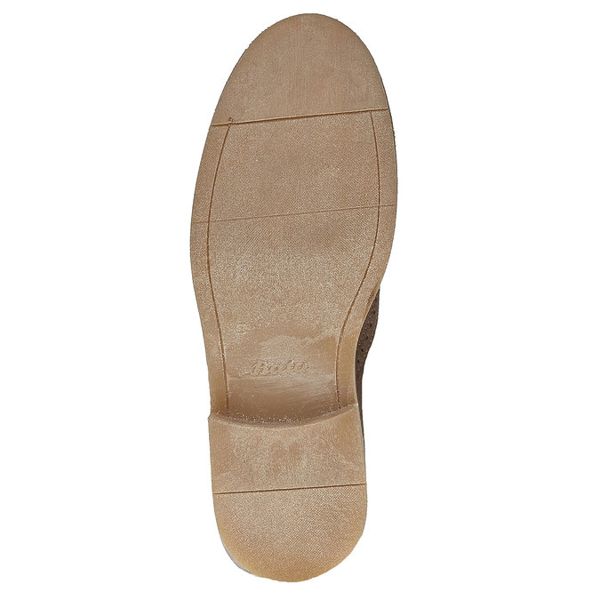 Chelsea Boots en cuir chamoisé bata, Gris, 593-2122 - 26