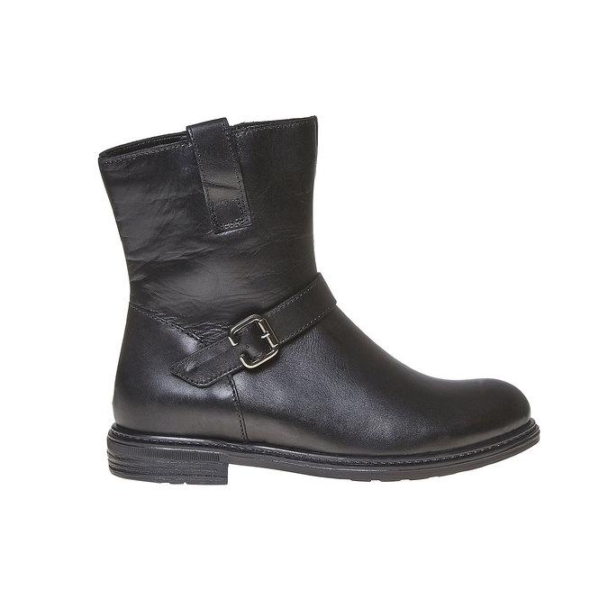 Botte en cuir pour enfant mini-b, Noir, 394-6308 - 15