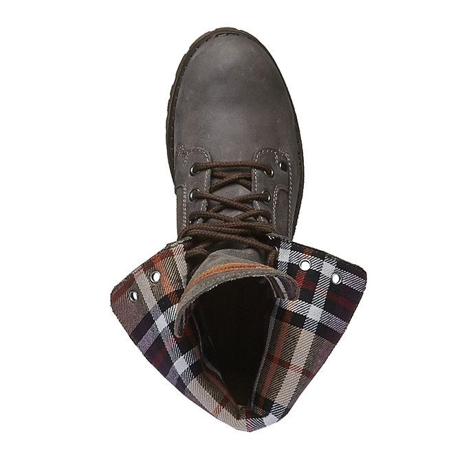 Chaussures en cuir à semelle tracteur avec bordure originale weinbrenner, Gris, 694-2167 - 19