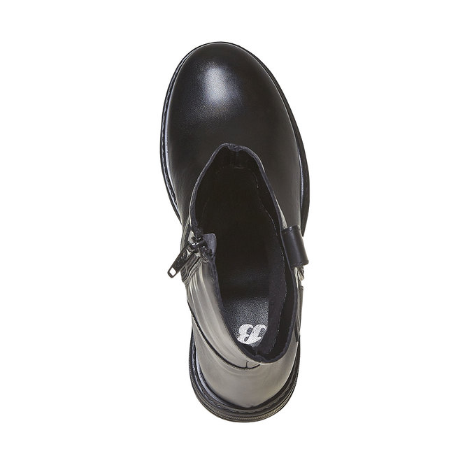 Botte en cuir pour enfant mini-b, Noir, 394-6308 - 19