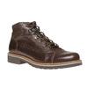 Chaussure montante en cuir bata, Brun, 894-4561 - 13
