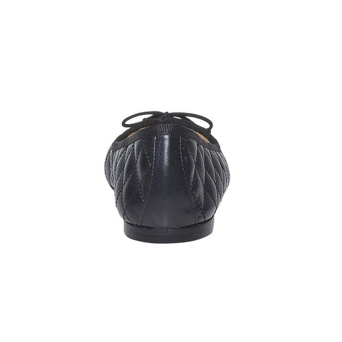 Ballerine matelassée en cuir bata, Noir, 524-6431 - 17