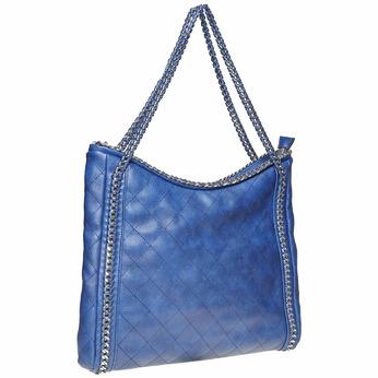 Sac à main bleu surpiqué bata, 961-0393 - 13