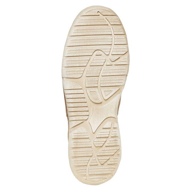 Chaussure lacée décontractée en cuir weinbrenner, Brun, 846-4657 - 26