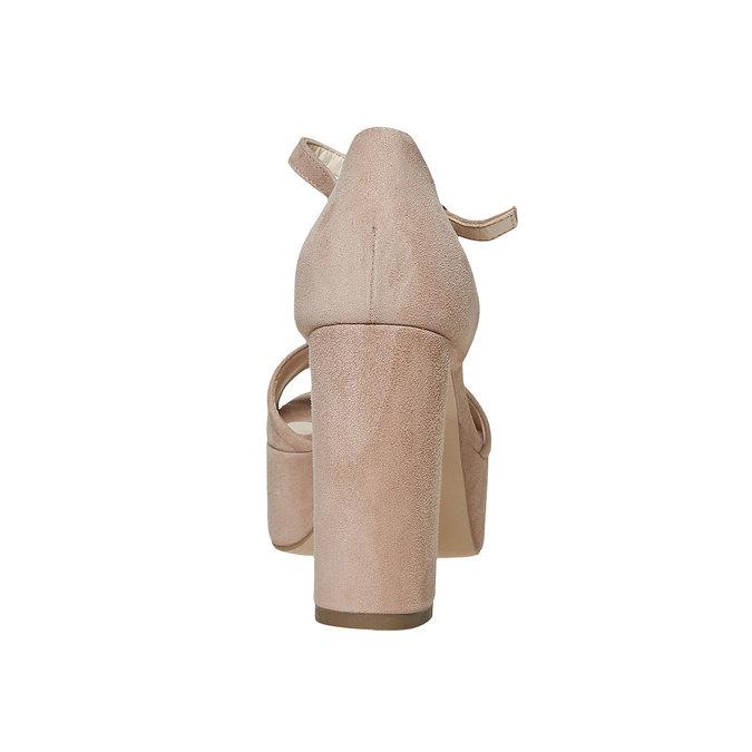 Sandale à talon en cuir bata, 763-8568 - 17