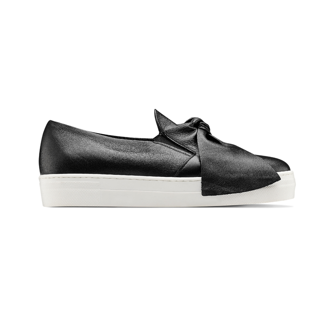 Slip-on en cuir north-star, Noir, 514-6264 - 26