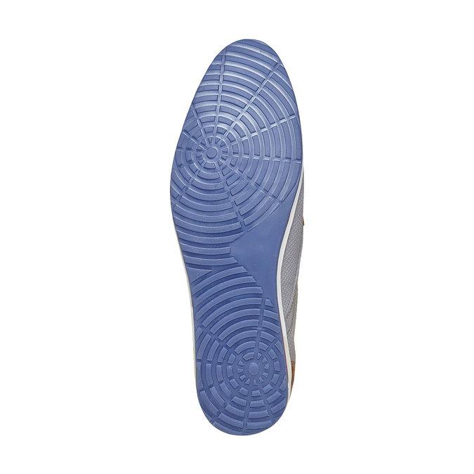 Chaussure décontractée en cuir bata, Gris, 823-2234 - 26