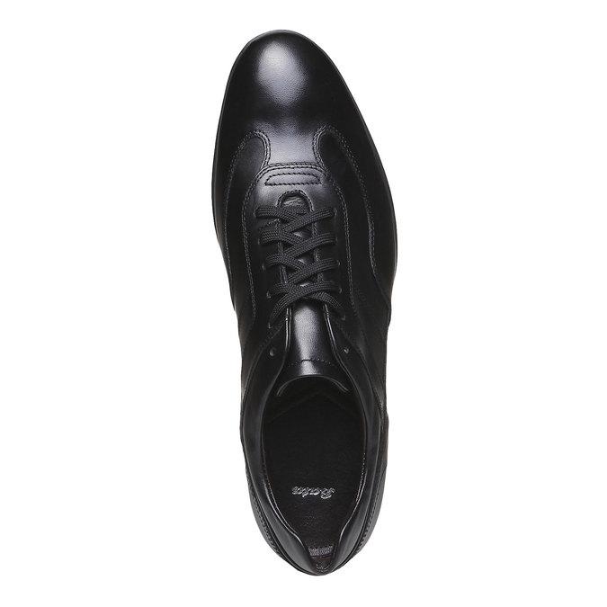 Chaussure de ville à lacet bata, Noir, 824-6988 - 19