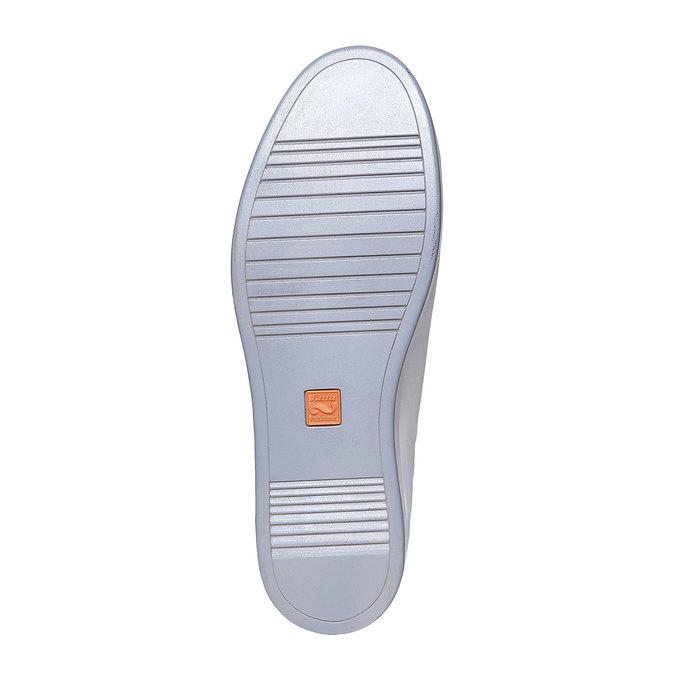 Basket blanche en cuir flexible, Blanc, 844-1705 - 26