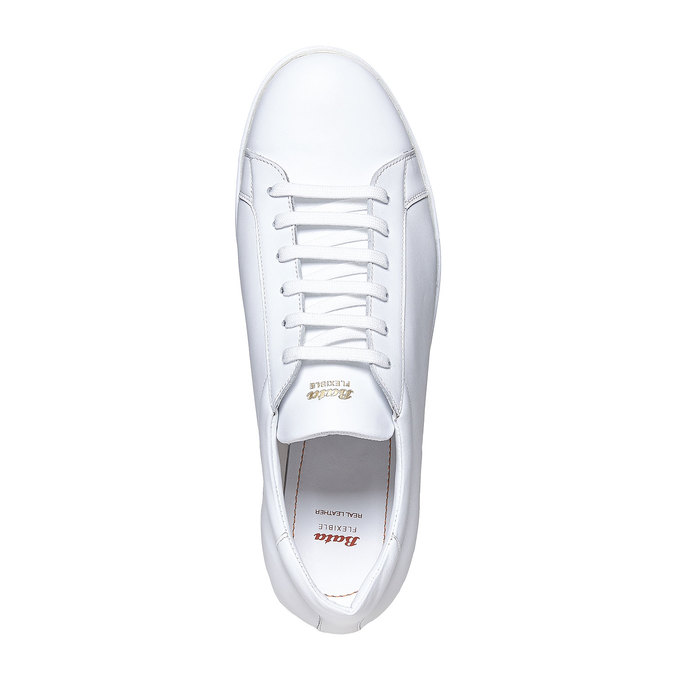 Basket blanche en cuir flexible, Blanc, 844-1705 - 19