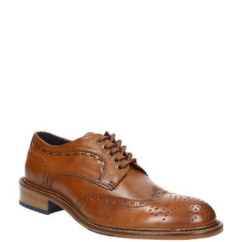 Chaussure homme avec les motifs Brogue bata-the-shoemaker, Brun, 824-3292 - 13