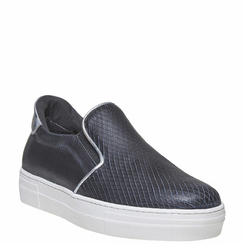 Slip-on en cuir north-star, Noir, 514-6265 - 13