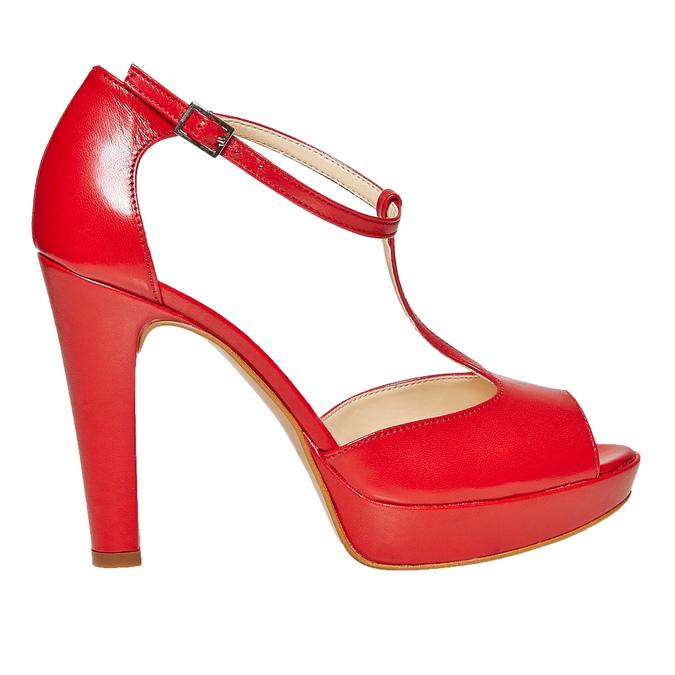 Sandale à talon rouge bata, Rouge, 724-5708 - 15