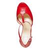 Sandale à talon rouge bata, Rouge, 724-5708 - 19