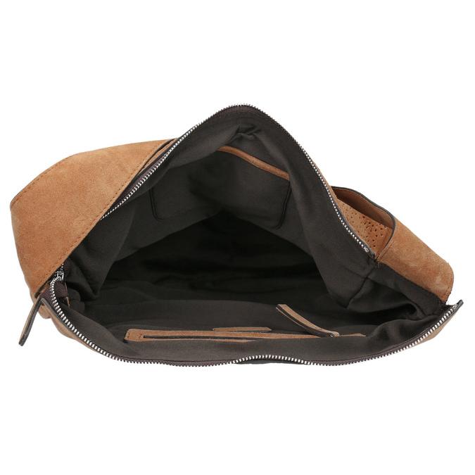Sac à main en cuir chamoisé bata, Brun, 963-3137 - 15