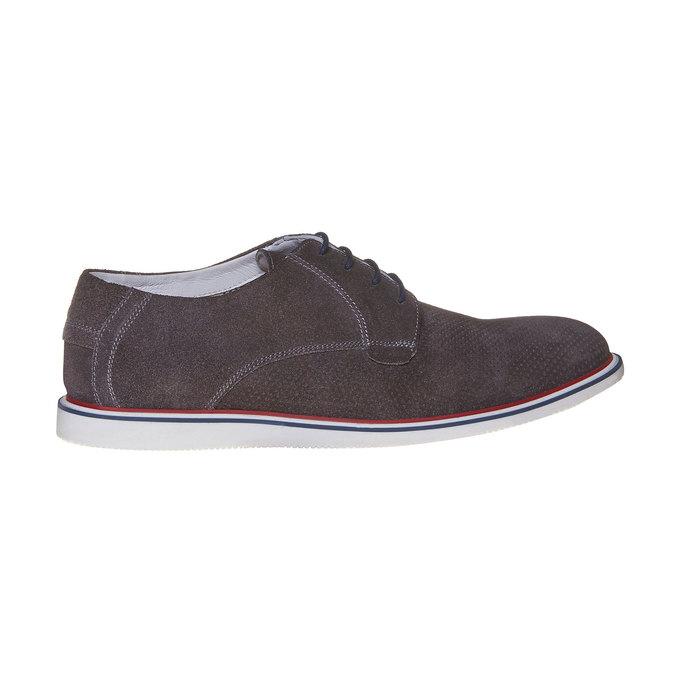 Chaussure lacée décontractée en cuir bata, Gris, 823-2239 - 15