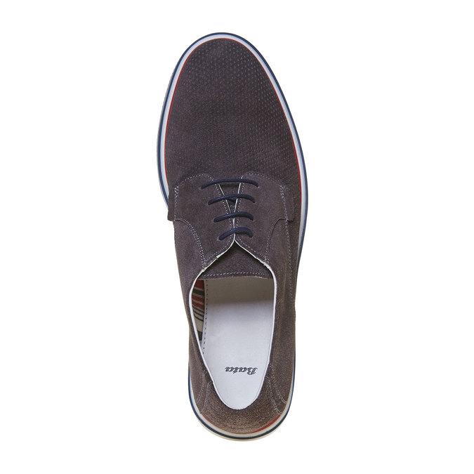 Chaussure lacée décontractée en cuir bata, Gris, 823-2239 - 19