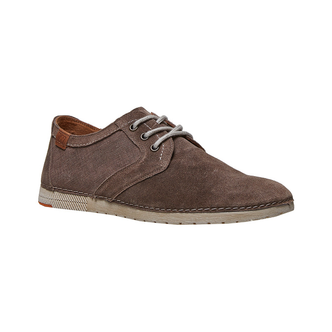Chaussure lacée décontractée en cuir weinbrenner, Brun, 843-4414 - 13