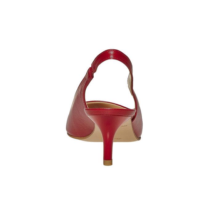 Escarpin pointu en cuir rouge bata, Rouge, 724-5677 - 17