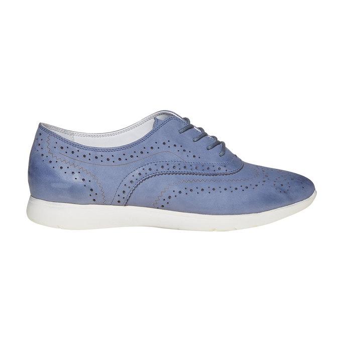 Chaussure lacée en cuir bleue bata, Violet, 526-9567 - 15