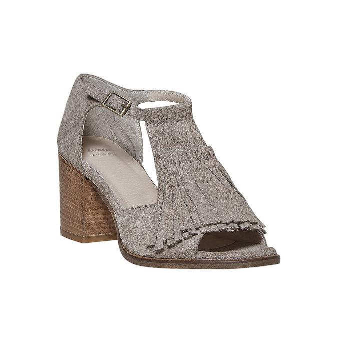 Sandale à franges femme bata, Jaune, 763-8519 - 13