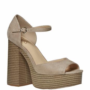 Sandale à talon femme insolia, Jaune, 769-8493 - 13