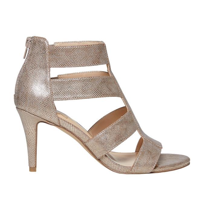 Sandale dorée femme insolia, Jaune, 761-8399 - 15